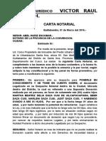 Carta Notarialdaza