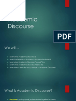 intro into academic discourse