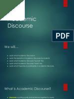 intro into academic discourse