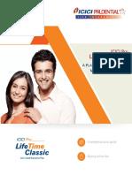 ICICI Pru LifeTime Classic Brochure