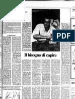 Tronti - Su Toni Negri (Il Messaggero 1979)