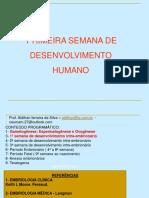 1ª Semana de Desenvolvimento Humano 2018