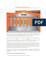 What is Total Productive Maintenance (TPM)