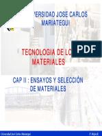 Cap III Ensayos y Selección de Materiales