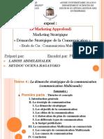 EXPOSE Marketing Démarche Stratégique de La Communication
