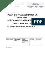 v4 Plan de Trabajo Oficina - Sede Pisco Al 24102017 Cambio de Switches v3