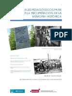 Materiales pedagógicos para trabajar la recuperación de la memoria histórica