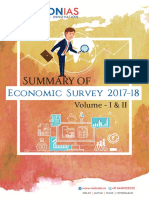 Economic Survey Summary 2017 18 Volume 1 and 2