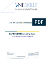 EPM Formatting Sheet