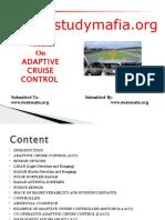 Mech Adaptive Cruise Control Ppt