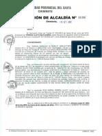 RESOLUCION DE ALCALDIA