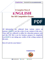 A Complete Note of English for All Competitive Exams