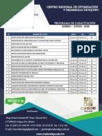 Programa de Capacitación Enero- Junio 2018