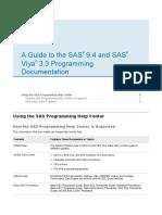 Guide to SAS 9.4 & SAS Viya 3.3 Programming Documentation