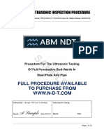NDT UT Procedure BS EN ISO 17640:2010 (Full version available from n-d-t.com)