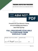 NDT UT Procedure BS EN ISO 17640:2010 (Full version available from n-d-t.com)