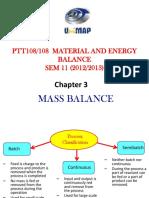 Ptt108 Material Balances