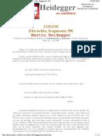 Siglo Xx - Martín Heidegger - Heráclito, Fragmento 50 Logos.pdf
