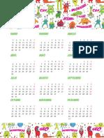 Monstruos Calendarios2018