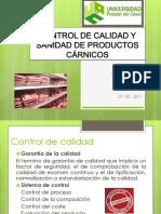 Control de Calidad y Sanidad de Productos Cárnicos