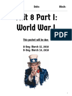 unit 8 part 1  world war i
