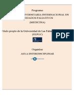 Medicina-Maestría Universitaria Internacional en Cuidados Paliativos