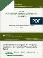Modulo 1 Uco Psicologia, Genero y Ddhh 2017