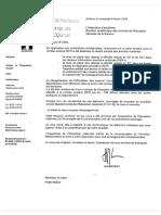 Lettre de l'académie d'Amiens envoyée au maire de Ponthoile