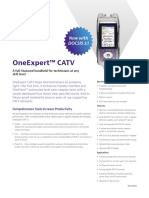 Oneexpert Catv Docsis 31 and Sweep Data Sheet En