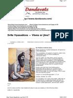 Vyasadeva Jiva-tattva or Vishnu-tattva