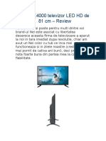 Nei 32NE4000 Televizor LED HD de 81 Cm – Review