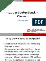 Sanskrit Language -1 Day-01-April-29-2016