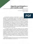 132838665 Orlando Fals Borda La Investigacion Participativa y La Intervencion Social