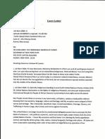 Jah Statutory Declaration to Governor of NYC