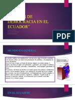 36 Años de Democracia en El Ecuador