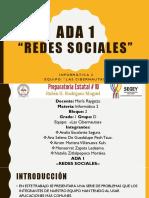 ADA 1 Redes Sociales.