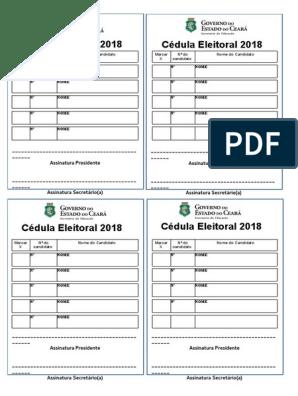 1 Cedula Eleitoral Novo Modelo Alterado 2018 2 4