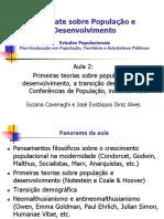 O debate histórico sobre População e Desenvolvimento