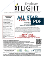 Employer Spotlights April 2018