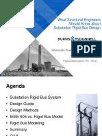 IEEE.what Structual Engineers-substation Rigid Bus Desing