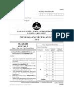 SEJARAH - PEPERIKSAAN PERCUBAAN SPM 2016 (KELANTAN)