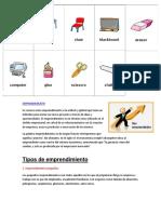 10 Imagenes en Ingles de Utiles Escolares y Que Es Emprendimiento