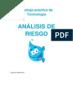 Toxicología - Análisis de Riesgo