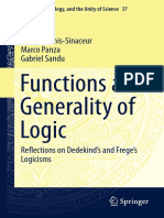 (Logic, Epistemology, And the Unity of Science 37) Hourya Benis-Sinaceur, Marco Panza, Gabriel Sandu (Auth.)-Functions and Generality of Logic_ Reflections on Dedekind's and Frege's Logicisms-Springer