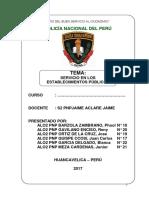 Servicio de Los Establecimientos Publicos Monografia Pnp