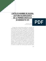08 - Caritas Es Nombre de La Iglesia, Lectura Eclesiológica de La Primera Encíclica de Benedicto XVI