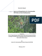 Narrative Report CIFOR Supporting Local Regulation in East Kalimantan v02