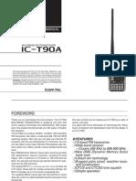 Icom IC-T90A Instruction Manual