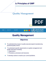 WHO Quality Management