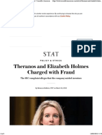Theranos and Elizabeth Holmes Charged With Fraud - Scientific American